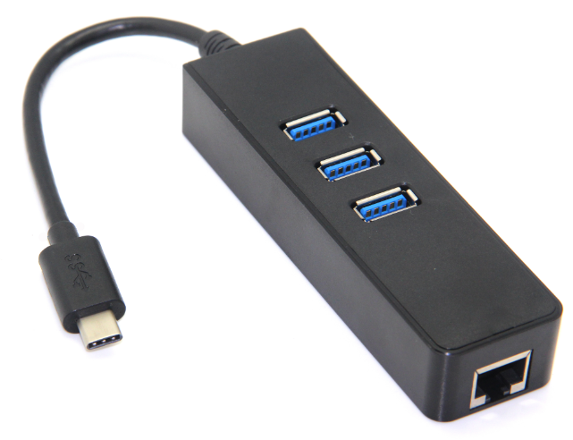 USB3.1/M TO 3.0 Ethernet port+3HUBs
